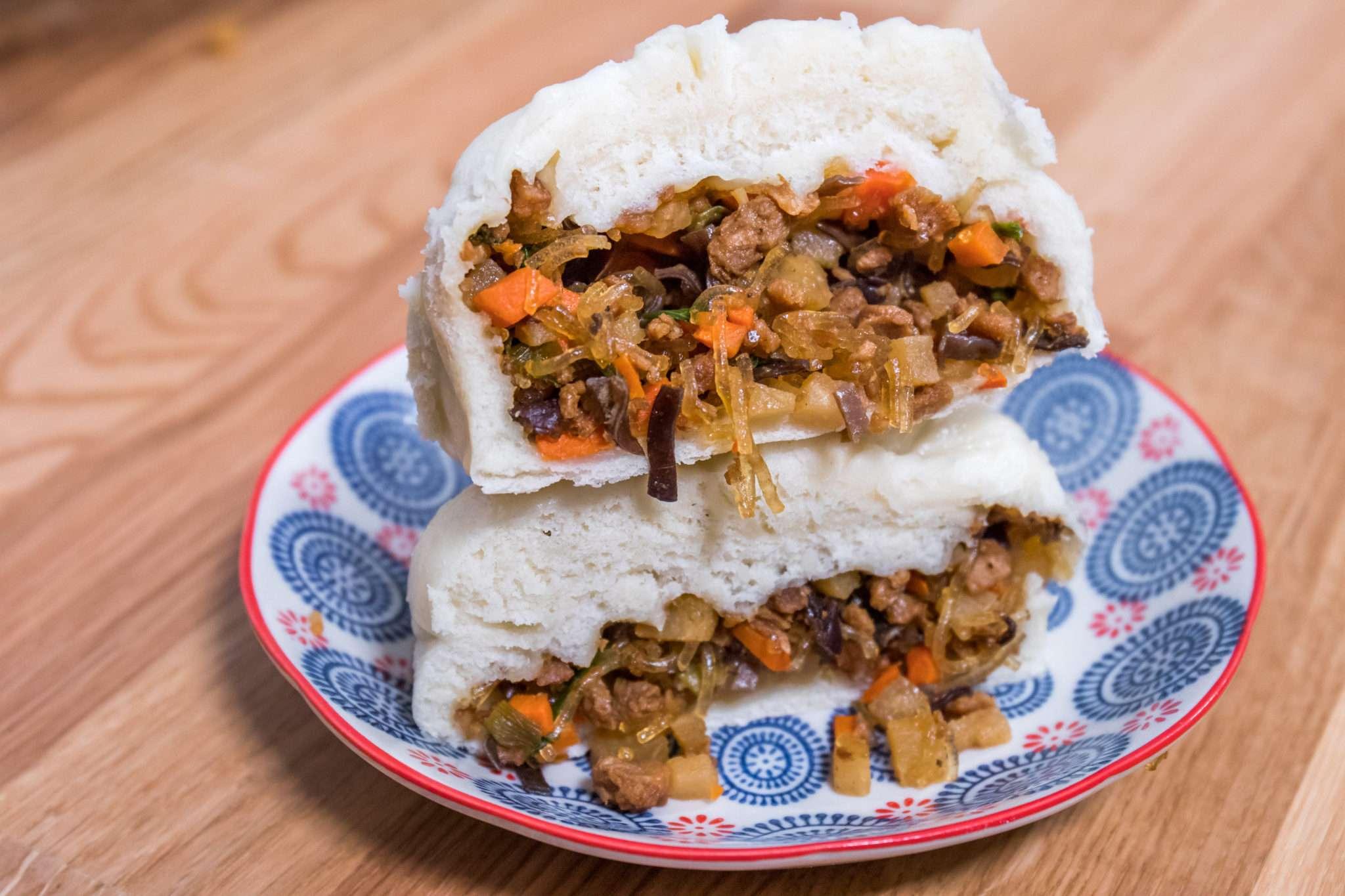 Vegan Vietnamese Steamed Buns (Banh Bao) + Pho (Noodle Soup) | Cheap