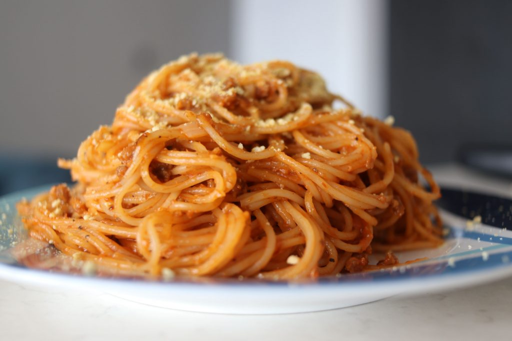 photo of the third comfort food: ketchup spaghetti