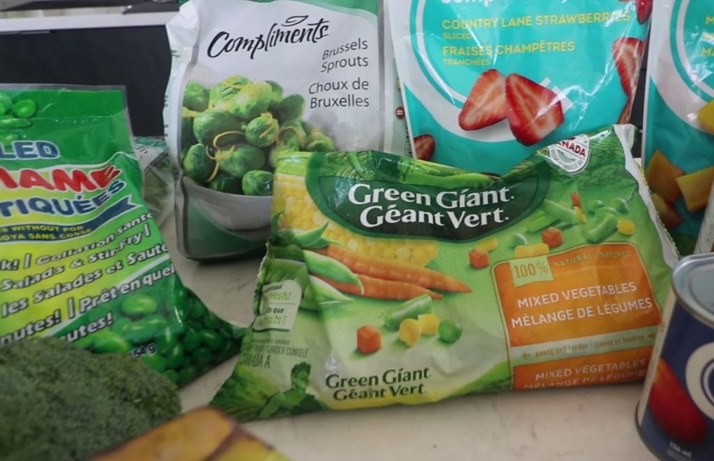 photo of some frozen food items from the vegan grocery haul