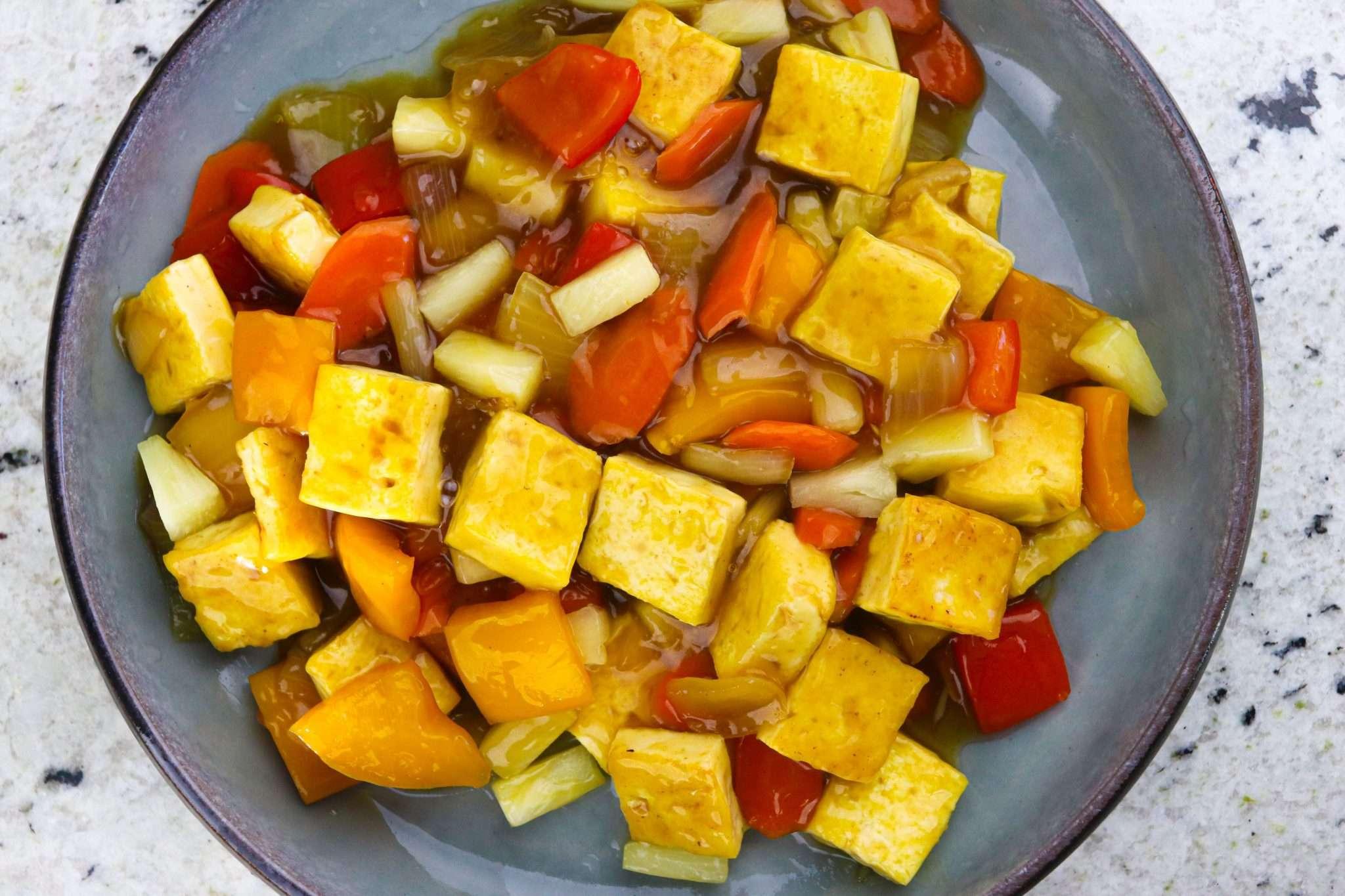korean sweet and sour tofu-2